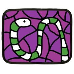 Green snake Netbook Case (XL)