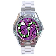 Green snake Stainless Steel Analogue Watch