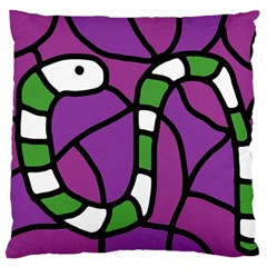 Green snake Large Cushion Case (Two Sides)