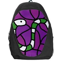 Green snake Backpack Bag
