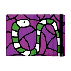 Green snake iPad Mini 2 Flip Cases