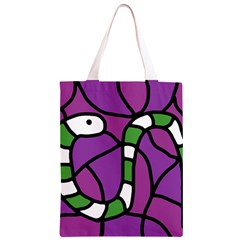 Green snake Classic Light Tote Bag