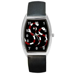 Red snakes Barrel Style Metal Watch