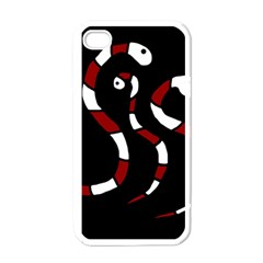 Red snakes Apple iPhone 4 Case (White)
