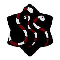 Red snakes Ornament (Snowflake)