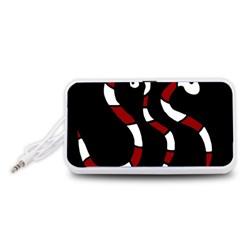 Red snakes Portable Speaker (White)