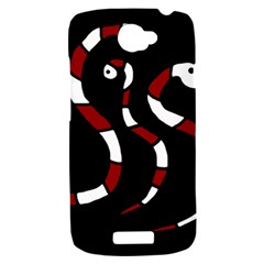 Red snakes HTC One S Hardshell Case