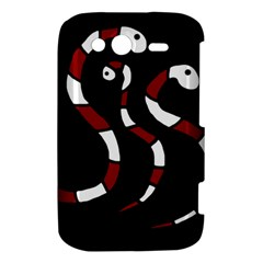 Red snakes HTC Wildfire S A510e Hardshell Case