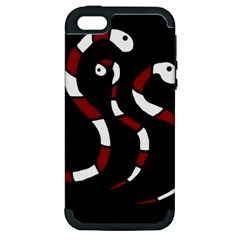 Red snakes Apple iPhone 5 Hardshell Case (PC+Silicone)