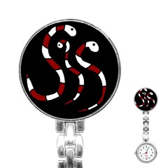 Red snakes Stainless Steel Nurses Watch