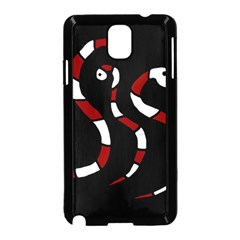 Red snakes Samsung Galaxy Note 3 Neo Hardshell Case (Black)
