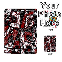 Red black and white abstract high art Playing Cards 54 Designs