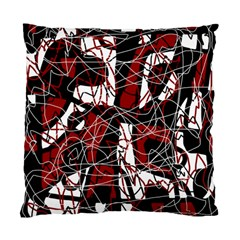 Red black and white abstract high art Standard Cushion Case (Two Sides)