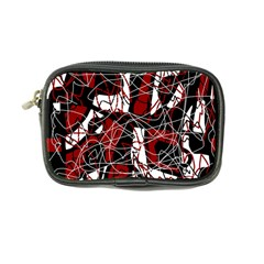 Red black and white abstract high art Coin Purse