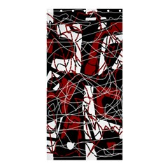 Red black and white abstract high art Shower Curtain 36  x 72  (Stall)
