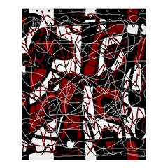 Red black and white abstract high art Shower Curtain 60  x 72  (Medium)