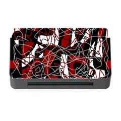 Red Black And White Abstract High Art Memory Card Reader With Cf