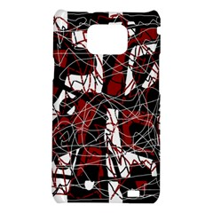 Red black and white abstract high art Samsung Galaxy S2 i9100 Hardshell Case