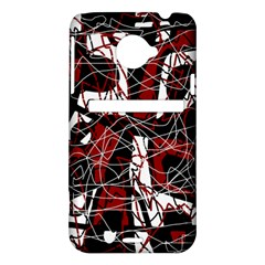 Red black and white abstract high art HTC Evo 4G LTE Hardshell Case