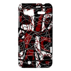 Red black and white abstract high art HTC Radar Hardshell Case