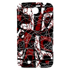 Red black and white abstract high art HTC Sensation XL Hardshell Case