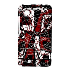 Red black and white abstract high art HTC Vivid / Raider 4G Hardshell Case