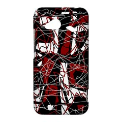 Red black and white abstract high art HTC Droid Incredible 4G LTE Hardshell Case