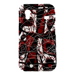 Red black and white abstract high art Samsung Galaxy Ace S5830 Hardshell Case