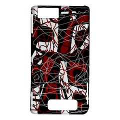 Red black and white abstract high art Motorola DROID X2