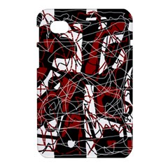 Red black and white abstract high art Samsung Galaxy Tab 7  P1000 Hardshell Case