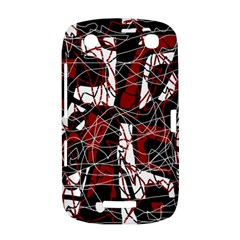 Red black and white abstract high art BlackBerry Curve 9380