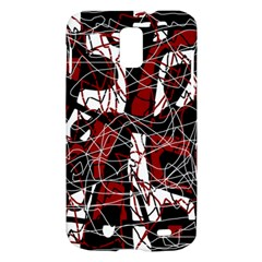 Red black and white abstract high art Samsung Galaxy S II Skyrocket Hardshell Case