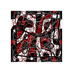 Red black and white abstract high art Acrylic Tangram Puzzle (4  x 4 )
