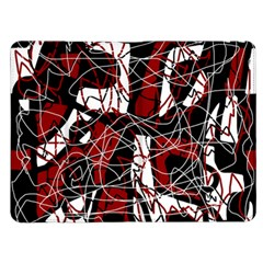 Red black and white abstract high art Kindle Fire (1st Gen) Flip Case