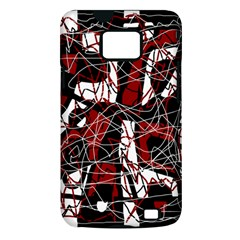 Red black and white abstract high art Samsung Galaxy S II i9100 Hardshell Case (PC+Silicone)