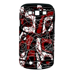 Red black and white abstract high art Samsung Galaxy S III Classic Hardshell Case (PC+Silicone)