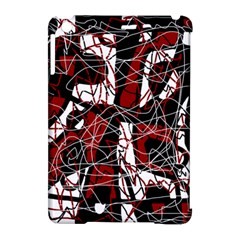 Red black and white abstract high art Apple iPad Mini Hardshell Case (Compatible with Smart Cover)