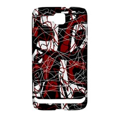 Red black and white abstract high art Samsung Ativ S i8750 Hardshell Case
