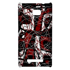 Red black and white abstract high art HTC 8X