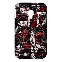 Red black and white abstract high art Samsung Galaxy Ace Plus S7500 Hardshell Case