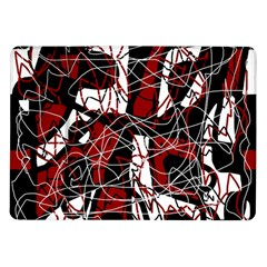 Red black and white abstract high art Samsung Galaxy Tab 10.1  P7500 Flip Case