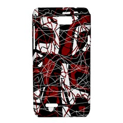 Red black and white abstract high art Motorola XT788