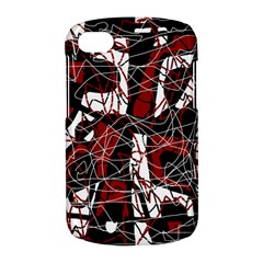 Red black and white abstract high art BlackBerry Q10