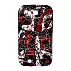 Red black and white abstract high art Samsung Galaxy Grand GT-I9128 Hardshell Case