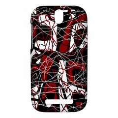 Red black and white abstract high art HTC One SV Hardshell Case
