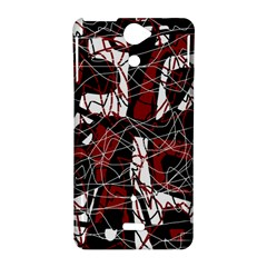 Red black and white abstract high art Sony Xperia V