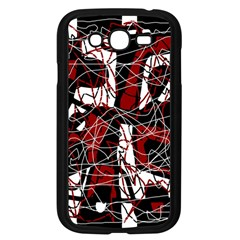 Red black and white abstract high art Samsung Galaxy Grand DUOS I9082 Case (Black)