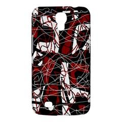 Red black and white abstract high art Samsung Galaxy Mega 6.3  I9200 Hardshell Case