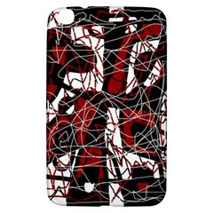 Red black and white abstract high art Samsung Galaxy Tab 3 (8 ) T3100 Hardshell Case