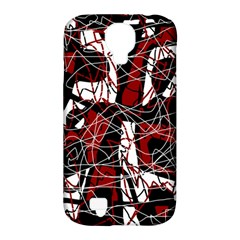 Red black and white abstract high art Samsung Galaxy S4 Classic Hardshell Case (PC+Silicone)
